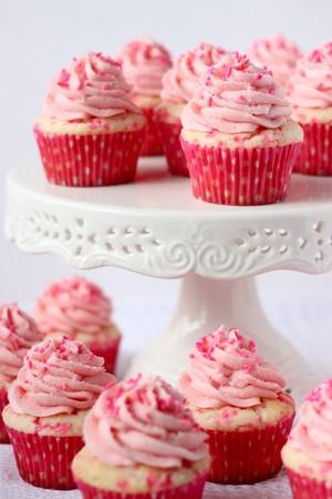 गुलाबी कपकेक
