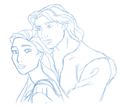 Pocahontas and John Smith  - disney-princess fan art