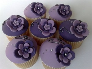 Purple 纸杯蛋糕 ♥