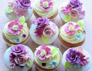 Purple কাপকেক ♥