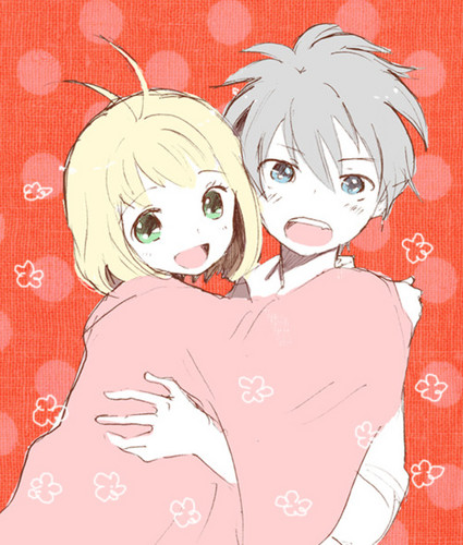 Ao no Exorcist fondo de pantalla possibly containing anime called Rin x Shiemi