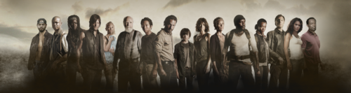 ウォーキング・デッド 壁紙 probably with an abattoir, a fountain, and a grainfield called SEASON 4 COMPLETE CAST POSTER The Walking Dead