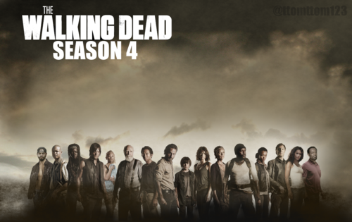 The walking dead images season 4 complete cast poster the walking the walking dead wallpaper probably containing a concert titled season 4 complete cast poster the walking voltagebd Gallery