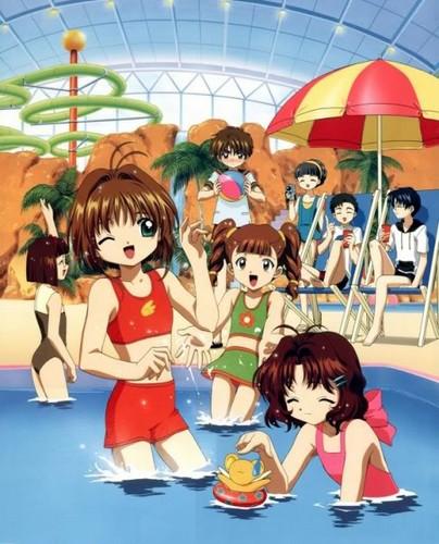 Sakura Cardcaptors wallpaper probably containing animê entitled Sakura Kinomoto in Summer Time