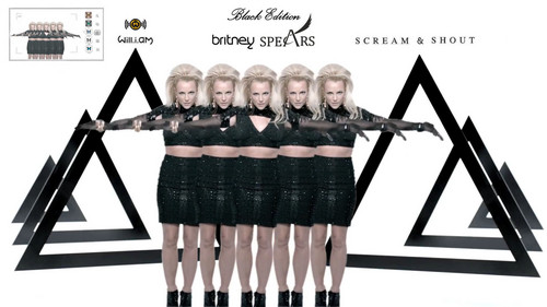 Britney Spears karatasi la kupamba ukuta called Scream & Shout Black Edition