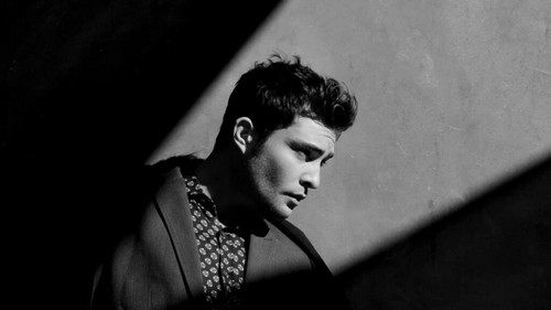 Ed Westwick wolpeyper with a chainlink fence titled Screencaptures from Ed Westwick video for August Man Malaysia