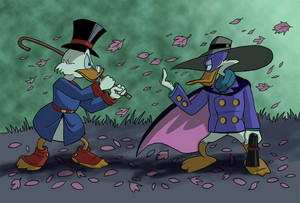 Scrooge McDuck vs Darkwing 오리