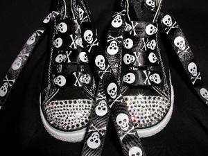 Skull Halloween Converse Sneakers