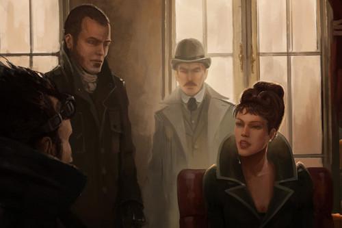 Sherlock Holmes fond d'écran with a business suit entitled Steampunk Holmes