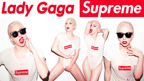 lady gaga wallpaper probably with sunglasses called Supreme