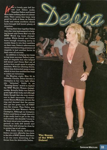 Бывшая дива WWE... Дебра Обои called TV Wrestlers Magazine - August & May 1999