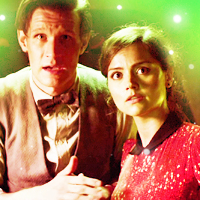 The Eleventh Doctor with Clara Oswald Icons