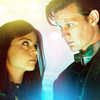 The Eleventh Doctor foto containing a portrait titled The Eleventh Doctor with Clara Oswald icone