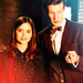 The Eleventh Doctor with Clara Oswald ikon-ikon