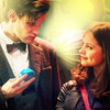 The Eleventh Doctor photo containing a portrait titled The Eleventh Doctor with Clara Oswald Icons