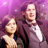 The Eleventh Doctor photo containing a business suit entitled The Eleventh Doctor with Clara Oswald Icons