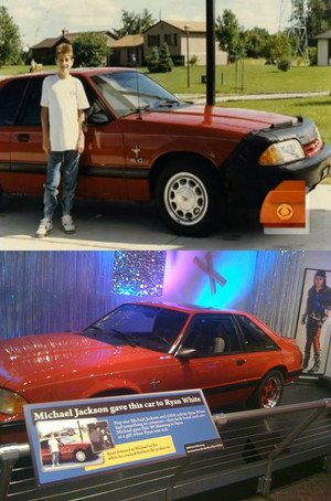 The Red Mustang Michael Gave Ryan White For His Birthday