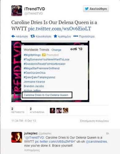 Damon & Elena kertas dinding titled Tweet