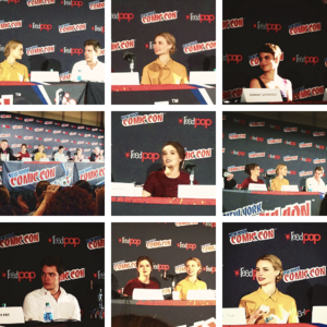 VA cast at the NY comic con