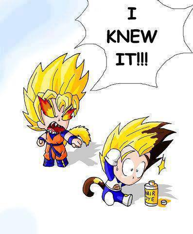 Vegeta the cheater!