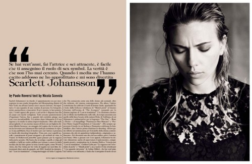 Scarlett Johansson wallpaper with a portrait called Vogue Italia October 2013