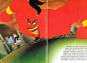 Walt Disney Book picha - Genie, Abu, Prince Aladdin, The Sultan, Princess jimmy, hunitumia & Jafar