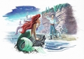 Walt Disney Book Images - Princess Ariel, Prince Eric & Max
