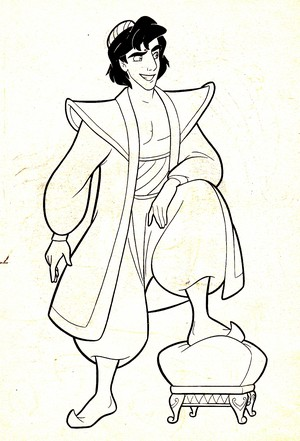 Walt disney Coloring Pages - Prince aladdin