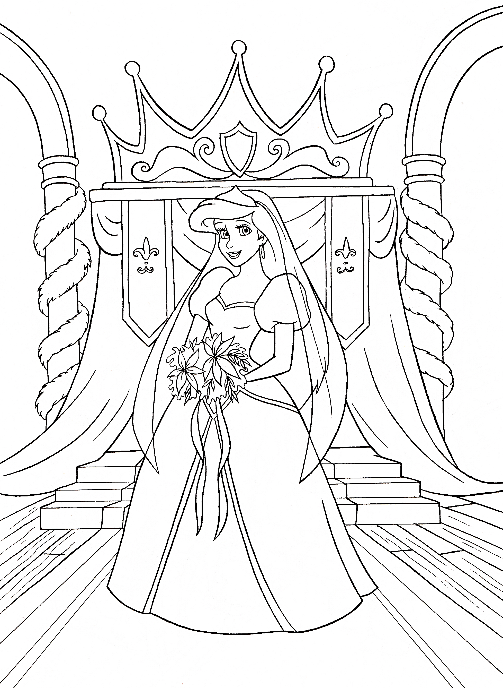 Walt Disney Coloring Pages Princess Ariel Walt Disney Disney Princess Ariel Coloring Pages