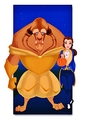 Walt Disney shabiki Art - The Beast & Princess Belle