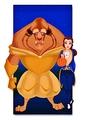 Walt Disney fan Art - The Beast & Princess Belle