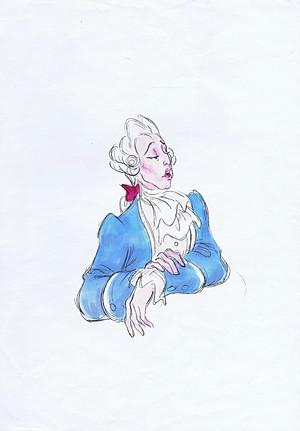 Walt disney Sketches - Gaston