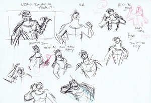 Walt Disney Sketches - Hercules