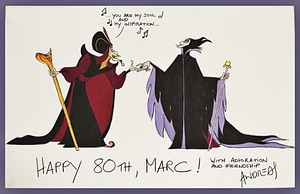 Walt Disney Sketches - Jafar & Maleficent