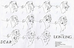 Walt Disney Sketches - Scar