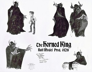 Walt 迪士尼 Sketches - The Horned King & Taran