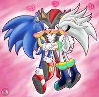 Sonic Shipping.... karatasi la kupamba ukuta called Yaoi <3