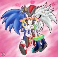 Sonic Shipping.... karatasi la kupamba ukuta entitled Yaoi <3