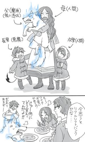 Yuri, Satan, Yukio, and Rin