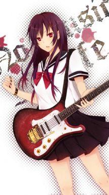 Anime girl gitarre