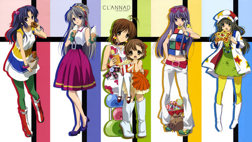 Clannad and Clannad After Story karatasi la kupamba ukuta titled clannad girl