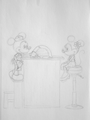 mickey and minnie - mickey-and-minnie fan art