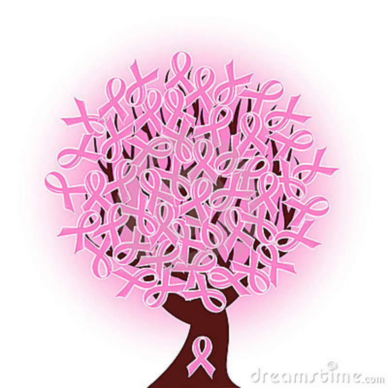 Breast Cancer Awareness ribbon tree