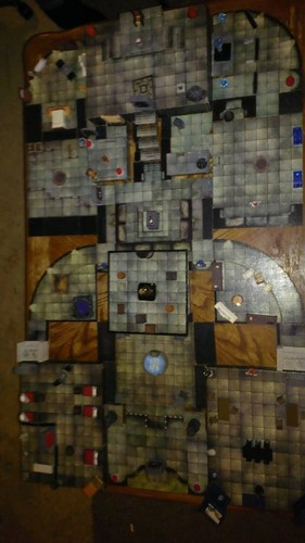 Dungeons & ドラゴン 壁紙 probably containing a cellar and a warehouse entitled the completed keep of shadows