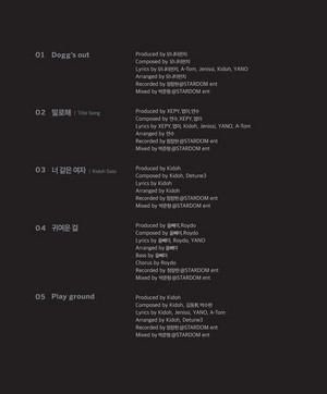 [131020 | FANCAFE] ToppDogg 1st Mini Album 「Dogg's out」 Track List & Info.