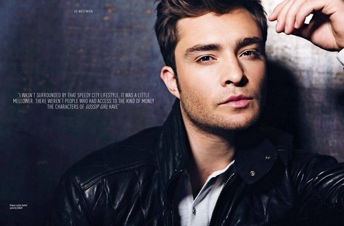 Ed Westwick wolpeyper possibly containing a portrait titled 'August Man' Malaysia Magazine - October 2013.