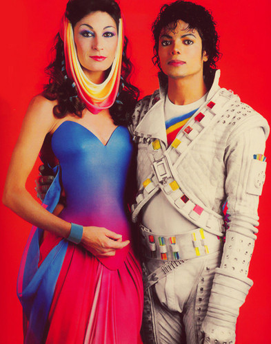 """michael jackson and girls wallpaper titled """"Captain Eo"""""""