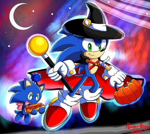 Nhím Sonic hình nền containing anime called .:Halloween:.