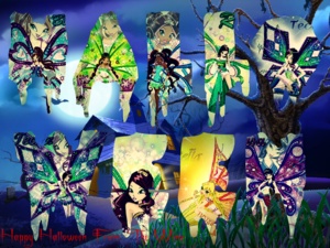 ♥ Happy halloween From: The Winx ♥