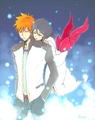 ºI c h i R u k iº - ichigo-and-rukia-sun-and-moon photo